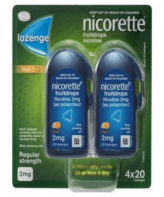 Nicorette Cool Drops Fresh Fruit Lozenge 2Mg 80 Pack