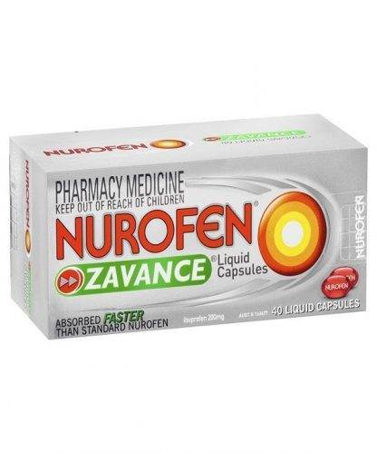 Nurofen Zavance Liquid Caplet 40 Pack