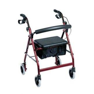"BBS Aluminium Handbrake Rollator 6"" *PICK-UP ONLY"