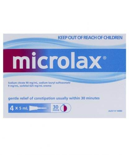 Microlax 5ML 4 Pack | Chemistworks | Pharmacy Open Now