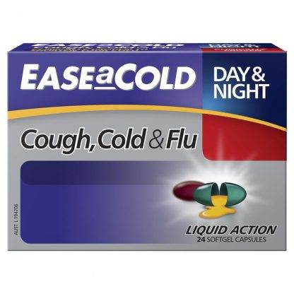 Ease A Cold Cough, Cold & Flu Day & Night 24 Caps