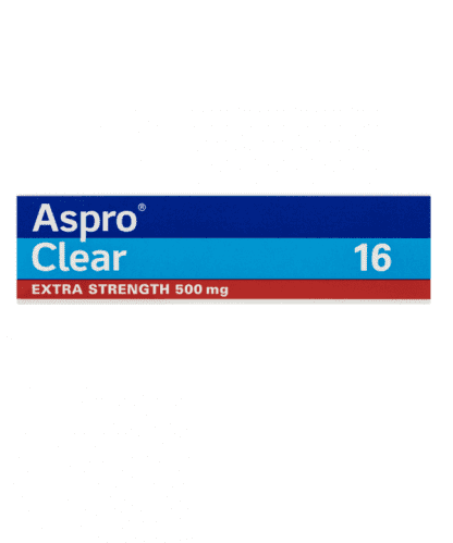 Aspro Clear 500MG Extra Srength 16 Effervescent Tablets