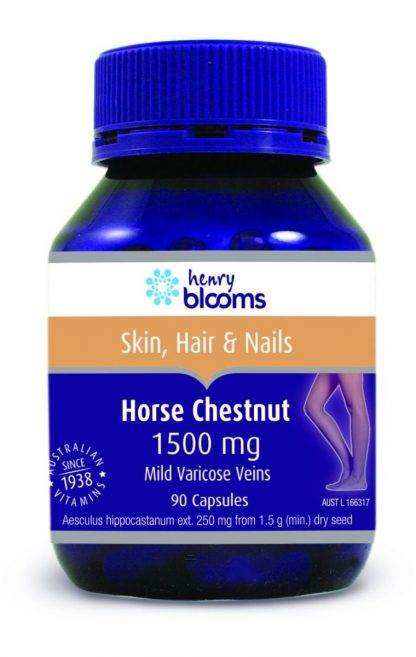 Henry Blooms Horse Chestnut 1500MG 90 Capsules
