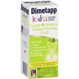 Dimetapp Kids Cough+Immune Support 2 Years & Over 200ML