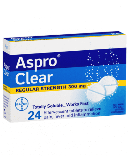 Aspro Clear 300MG 24 Effervescent Tablets