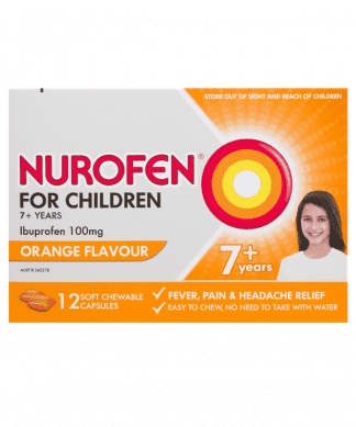 Nurofen 7+ Years Orange 12 Chewable Capsules | Chemistworks | Pharmacy Near Me | Chemist Near Me
