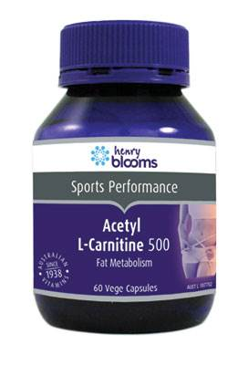 Henry Bloooms Acetyl L-Carnitine 500MG 60 Capsules