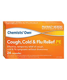 Chemists' Own Cough, Cold & Flu Relief PE 24 Capsules
