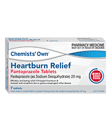 Chemists' Own Heartburn Relief Pantropazole 20MG 7 Tablets