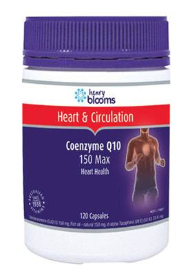 Henry Blooms Coenzyme Q10 150 Max 60 Capsules
