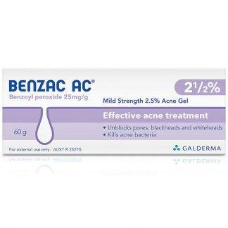 Benzac Ac 2.5% | 60G | Chemistworks | Pharmacy Open Now