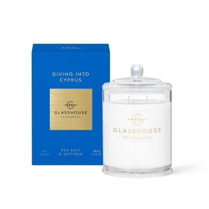 Glasshouse Candle Diving Into Cyprus 380G