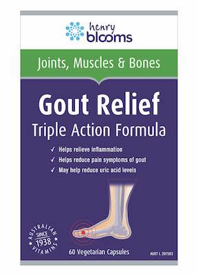 Henry Blooms Gout Relief 60 Capsules