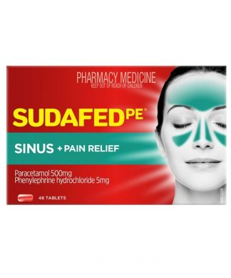 Sudafed Phenylephrine Sinus Pain Tablet 48 Tablets