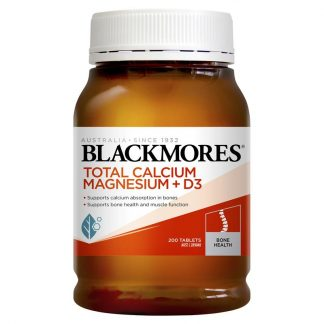 Blackmores Total Calcium + Magnesium + D3 200 Tablets