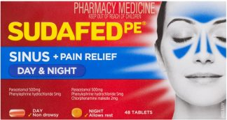 Sudafed Phenylephrine Sinus Day & Night Tablets 48 Pack