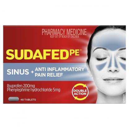 Sudafed PE Sinus Anti-Inflammatory Pain Relief 48 Tablets