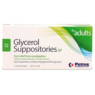 Glycerol Adult 12 Suppositories