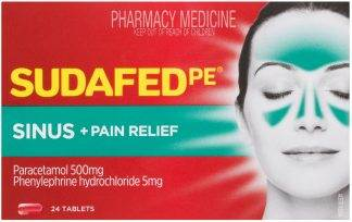 Sudafed Phenylephrine Sinus Pain Tablets 24 Pack