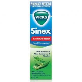 Vicks Sinex 12HR Relief Aloe Vera 15mL